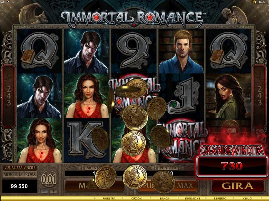 immortal romance slot machine bad casinos